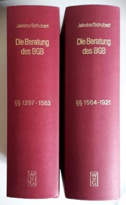Die Beratungen des Bürgerlichen Gesetzbuchs in systematischer Zusammenstellung der unveröffentlichten Quellen. Familienrecht I §§ 1297-1563. Familienrecht II §§ 1564-1921