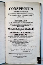 Conspectus Instrumentorum quae ad trepanationem sunt adhibita. Accedente Novo Trepanationis Apparatu.