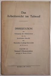 Das Arbeitsrecht im Talmud.