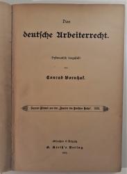 Das deutsche Arbeiterrecht. Systematisch dargestellt von Conrad Bornhak. Separat-Abdruck aus den Annalen des Deutschen Reichs. 1892.