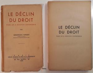Le Déclin du Droit. Études sur la Législation contemporaine.