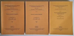 Deutsche Apotheker-Biographie. 3 Bände: Band I - A-L, Band II - M-Z, Band III - Ergänzungsband. Veröffentlichungen der Internationalen Gesellschaft für Geschichte der Pharmazie e.V. Band 43, 46 und 55.