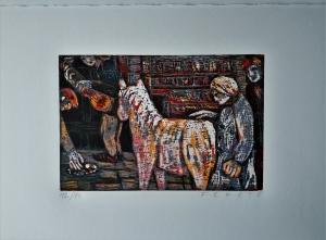 Meine Insel. 12 Farbholzschnitte und 12 Holzschnitte mit Erzählungen vom Künstler und von Ursula Paschke.